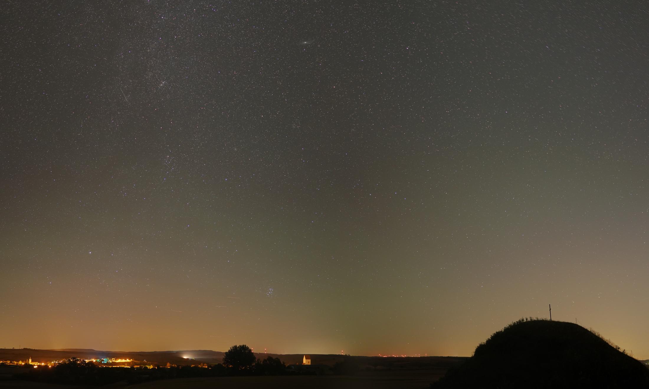 Andromeda und M31 über Großmugl. © Günther Wuchterl